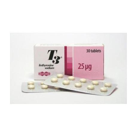 T3 Tiromel 25 mg / 30 pastillas