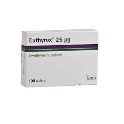 T4 (Euthyrox) 25 mg / 100 pastillas